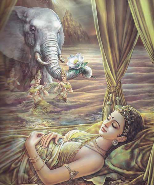 Maya-tiene-un-sueño-el-elefante-le-dice-que-estara-embarazada-de-buda